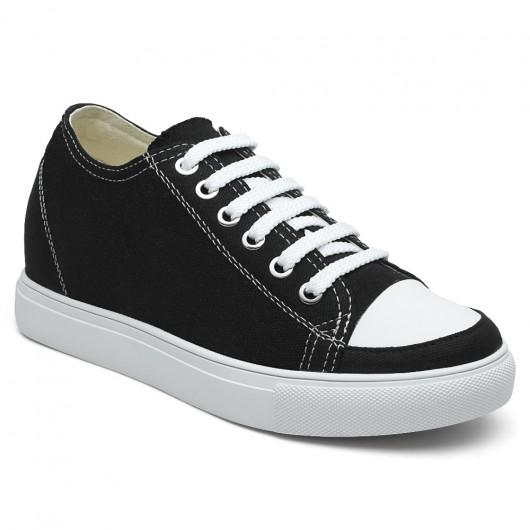Eleganti Ascensori scarpe semplici per le donne della tela Altezza crescente Shoes per le donne
