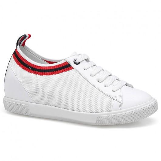 Chamaripa scarpe con rialzo sneakers rialzate donna scarpe da ginnastica bianche 6 CM