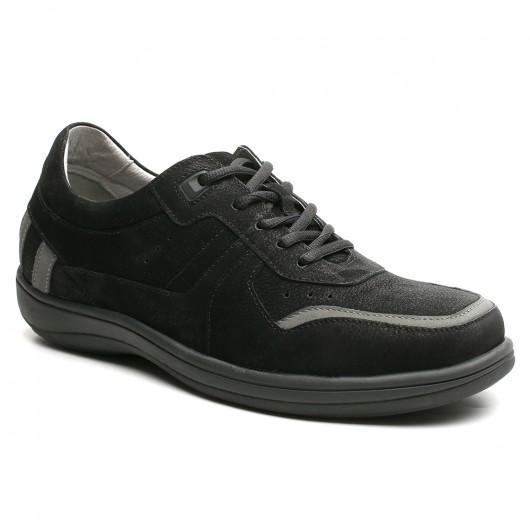 Chamaripa scarpe rialzate uomo scarpe uomo tacco alto scarpe uomo tacco interno nero 6 CM
