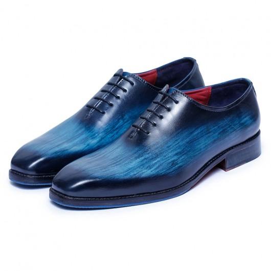CHAMARIPA scarpe eleganti con rialzo uomo - scarpe oxford artigianali - scarpe da sposa da uomo navy - 7 CM