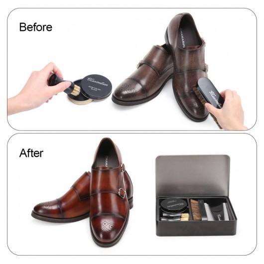 CHAMARIPA kit lucido da scarpe in pelle 7PC e kit per la cura delle scarpe per uomo e donna
