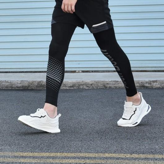 CHAMARIPA scarpe da ginnastica con con rialzo interno per uomo sneakers con rialzo bianca traspirante 6CM