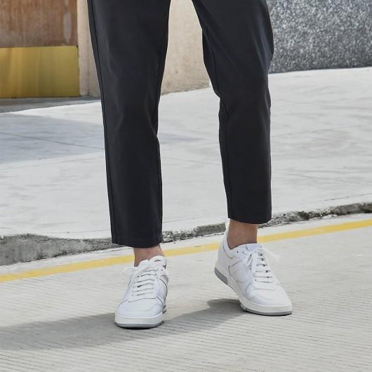 Chamaripa scarpe con rialzo uomo sneaker rialzate sneakers tacco interno bianco sneakers low-top con tallone coordinati +7CM
