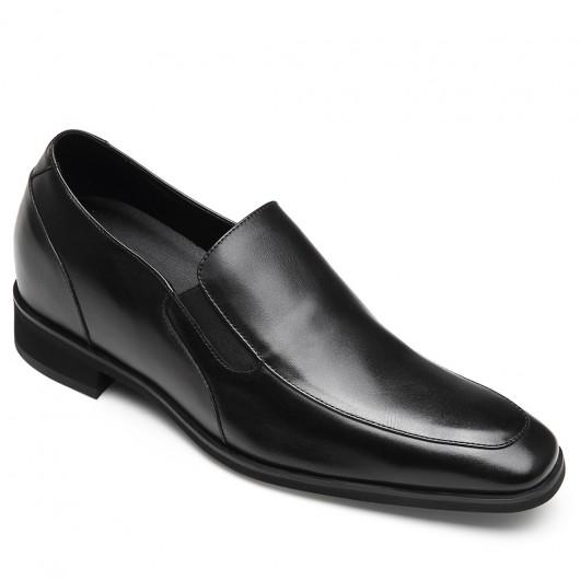 CHAMARIPA scarpe con rialzo interno uomo scarpe mocassini in pelle nero scarpe rialzate 7CM