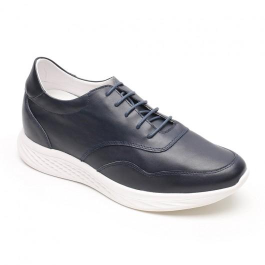 Chamaripa scarpe da ginnastica con tacco scarpe con rialzo interno uomo scarpe ginnastica uomo blu 7 CM