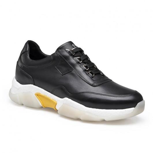CHAMARIPA scarpe da ginnastica con tacco scarpe rialzate uomo scarpe uomo tacco alto nero 7 CM
