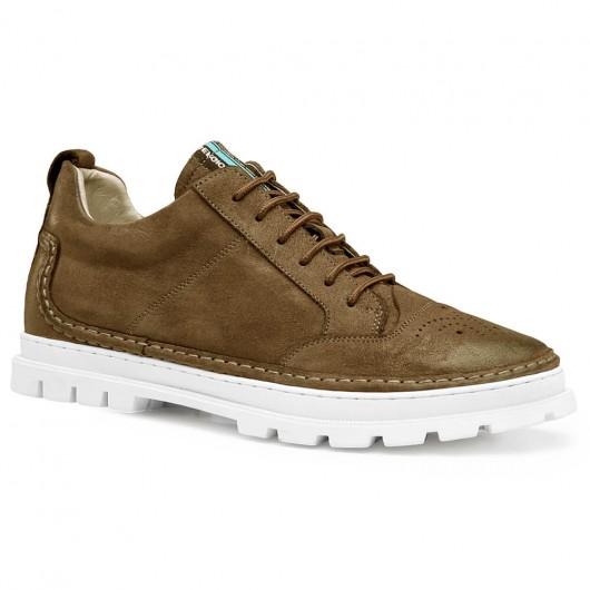 Chamaripa scarpe rialzate per uomo giallo scarpe con rialzo scarpe con tacco interno 5.5 CM