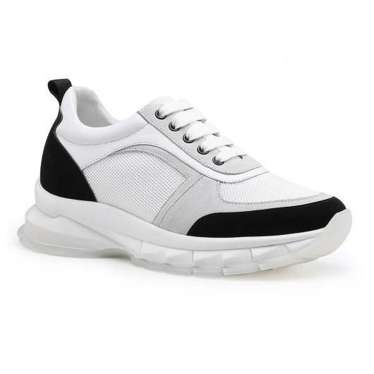 Chamaripa scarpe rialzate donna scarpe con rialzo scarpe con zeppa interna donna scarpe per alzare statura bianco e nero 8CM