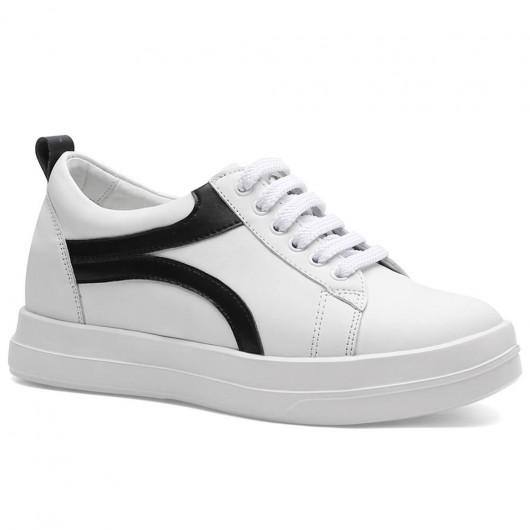 Chamaripa sneakers con rialzo donna scarpe sportive con rialzo interna bianco scarpe sportive con tacco 6 CM