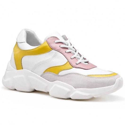 Chamaripa scarpe con rialzo donna scarpe con tacco interno scarpe da ginnastica con tacco interno 7 CM