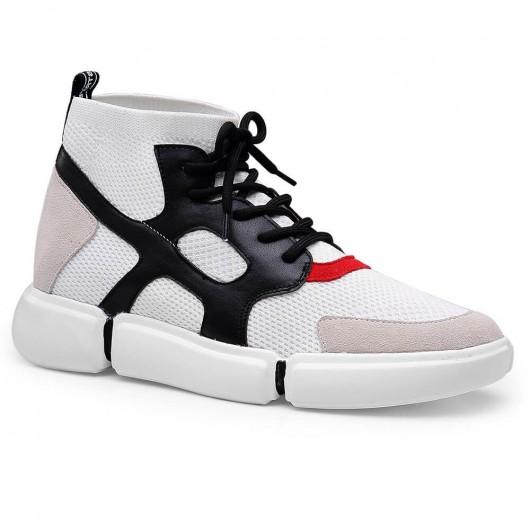 Chamaripa scarpe rialzate uomo economiche bianco sneakers rialzate scarpe uomo rialzo interno 6 CM