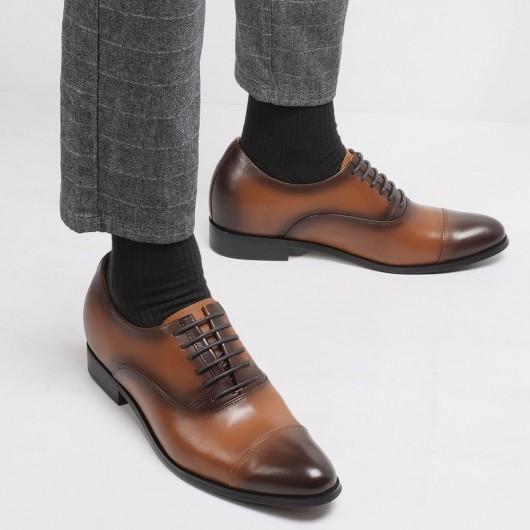 Chamaripa scarpe rialzate uomo scarpe con tacco Interno scarpe rialzo eleganti aumento di altezza 7 CM