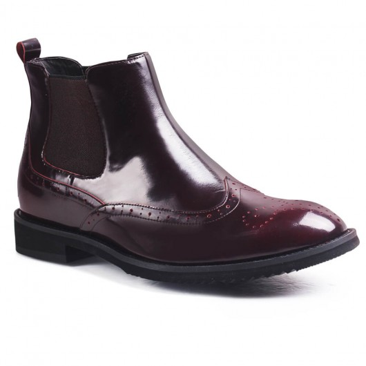 stivali con rialzo interno uomo scarpe uomo rialzate stivali tacco alto 6CM
