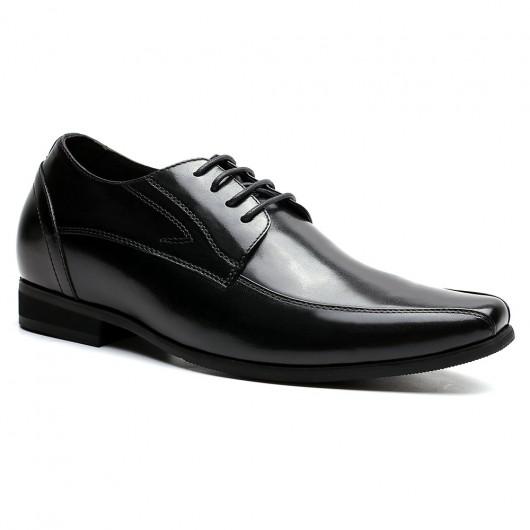 CHAMARIPA scarpe con tacco alto per uomo scarpe eleganti da cerimonia suole rialzate scarpe nere