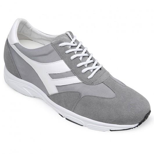 Chamaripa scarpe sportive con rialzo interno grigio sneakers rialzate scarpe per essere piu alto 8 CM