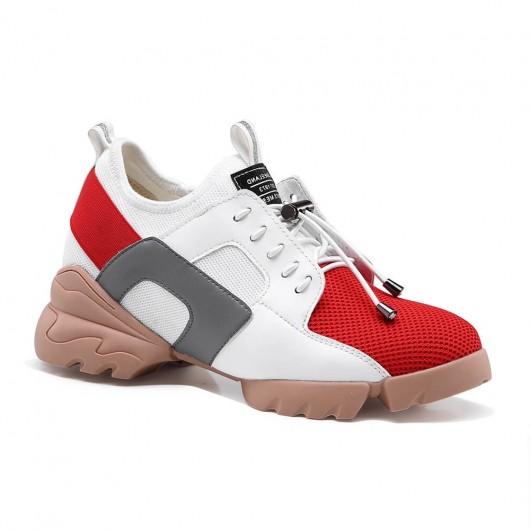 Chamaripa scarpe con rialzo interno donna sneakers con tacco interno scarpe ginnastica con zeppa 8 CM