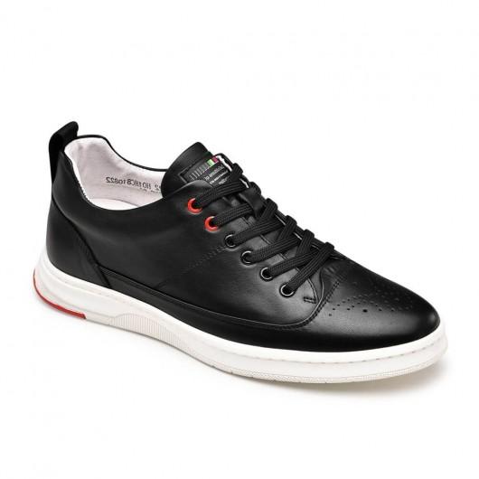 Chamaripa Scarpe rialzanti scarpe tacco alto nero per uomo sneakers tacco interno 6CM