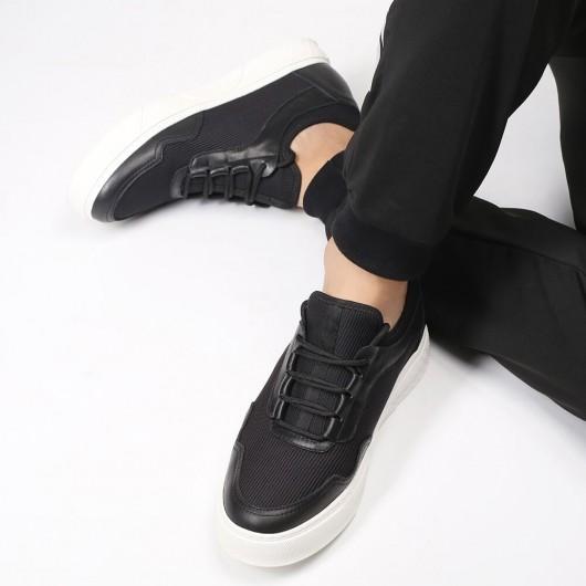 Chamaripa sneakers con tacco interno scarpe da tennis nero scarpe da ginnastica con tacco interno 6CM