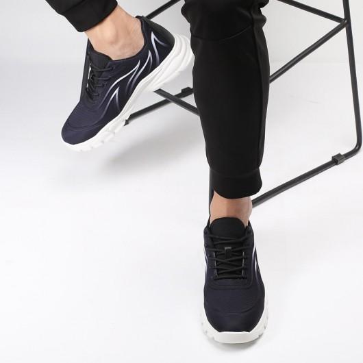 Chamaripa scarpe rialzate uomo sneakers con tacco interno sneakers nere che diventano più alte di 6CM