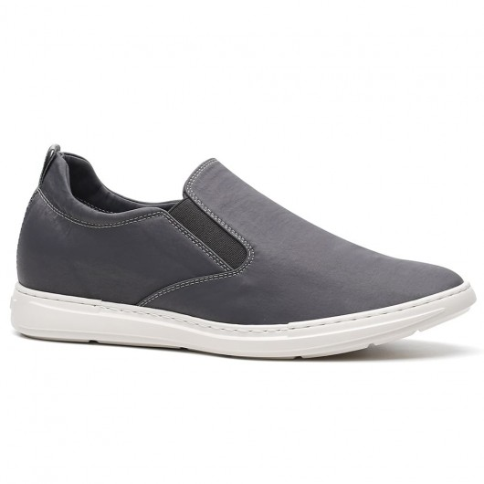 Chamaripa scarpe con rialzo interno scarpe uomo tacco alto sneakers con tacco interno Grigio 6CM