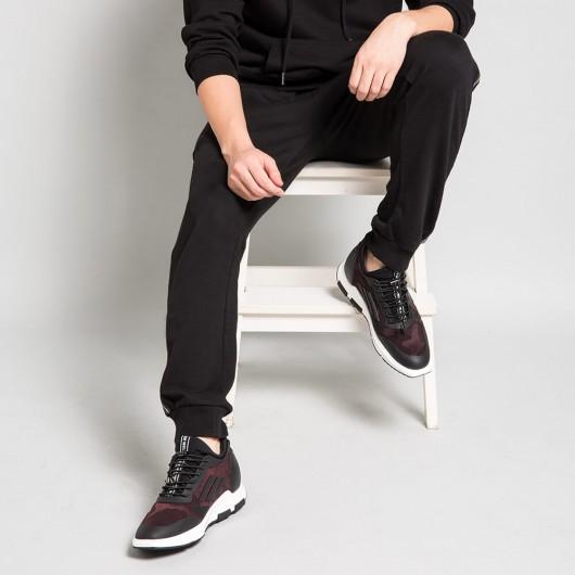 Chamaripa scarpe uomo con rialzo - scarpe da ginnastica con rialzo interno - scarpe rialzo sportive 6 CM Più' Alti