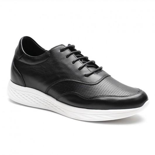 Chamaripascarpe uomo con rialzo interno nero scarpe rialzate per uomo sneakers tacco interno 7 CM