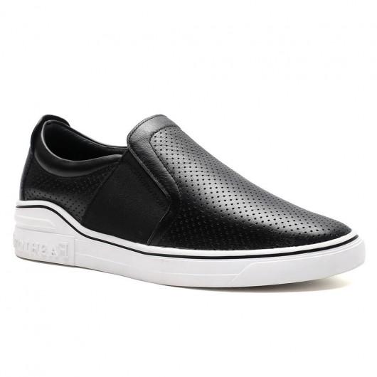 Chamaripa sneakers tacco alto uomo sneakers rialzate scarpe trekking traspirante scarpe estive uomo nere 6 CM