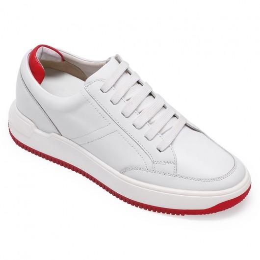 Chamaripa scarpe con rialzo uomo bianco scarpe da passeggio scarpe ginnastica con zeppa 7 CM