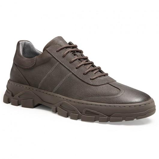 Chamaripa scarpe rialzate per uomo scarpe da ginnastica con rialzo interno grigio 6 CM