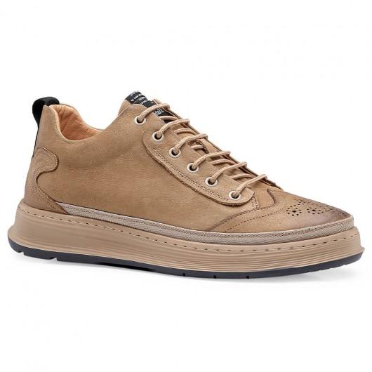 Chamaripa scarpe con rialzo interno scarpe uomo tacco alto 6 CM piu alti giallo