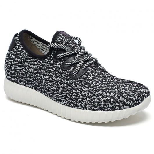 scarpe con rialzo interno donna sneakers tacco interno sportive con la zeppa 7CM