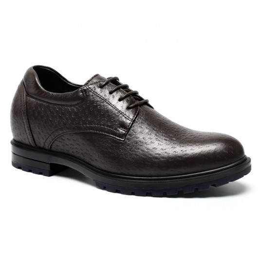 Custom Deerskin Tall Men Shoes High-end Elevator Shoes for Men Lift Shoes 7CM / 2.76 Inches