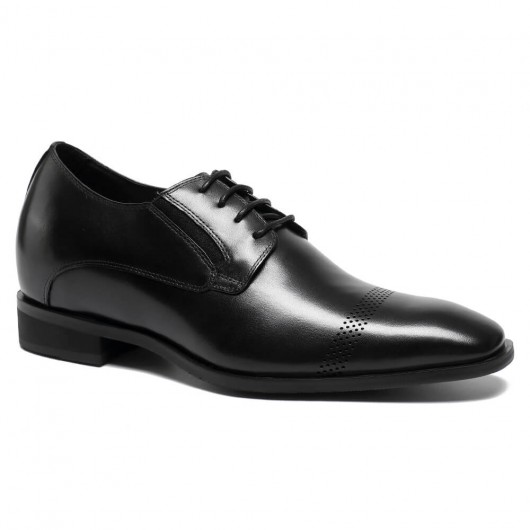 Chamaripa rialzo interno Scarpe stringate basse uomo solette scarpe per altezza con il tacco 7CM