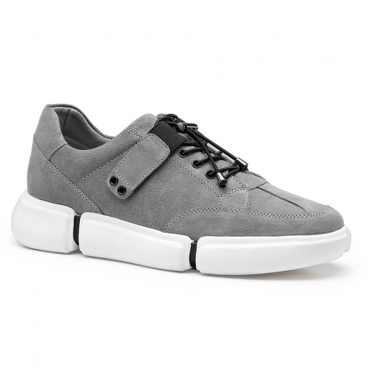Chamaripa scarpe con rialzo interno scarpe per sembrare più alti grigio scarpe uomo con tacco alto 6CM