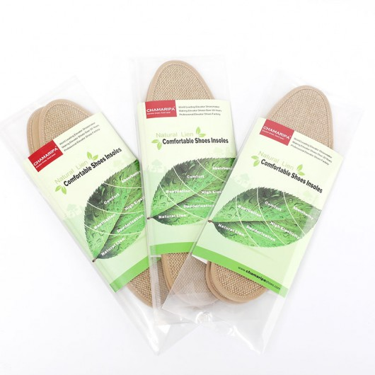 Scarpe alzate Insoles tela naturale comoda altezza aumento del sottopiede solette scarpe rialzate