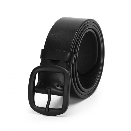 Chamaripa Cinture da uomo casual Cintura in vera pelle fatta a mano con fibbia nera
