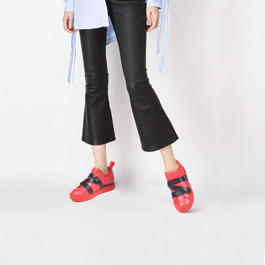 Chamaripa carpe da donna con tacco scarpe con rialzo donna sneakers con rialzo interno 7 CM