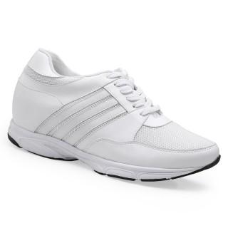 Chamaripa scarpe con rialzo uomo sneakers uomo rialzate scarpe sportive rialzate 8.5 CM bianco