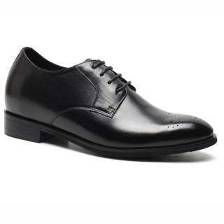scarpe tacco interno uomo Chamaripa Oxford Height Increasing Shoes Black Wedding Shoes