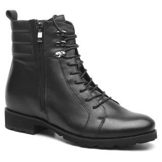 Chamaripa scarpe da uomo con rialzo interno stivali con rialzo interno moto stivali rialzati per veri biker 8 CM