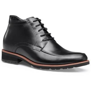 Chamaripa scarpe con rialzo scarpe rialzanti stivaletti con tacco interno Nero 7 CM