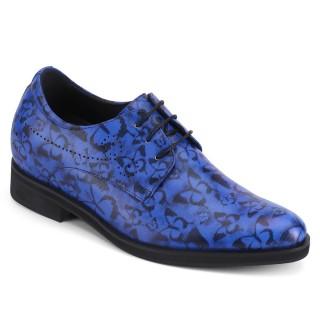 7 CM Più' Alti - Chamaripa scarpe uomo rialzate scarpe per sembrare più alto scarpe uomo rialzo interno Blu
