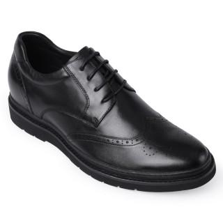 Chamaripa scarpe con rialzo uomo scarpe rialzate all'interno scarpe brogue stile derby nero 7CM