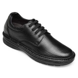 Chamaripa scarpe con rialzo interno scarpe rialzate uomo scarpe stringate in pelle nero 7CM