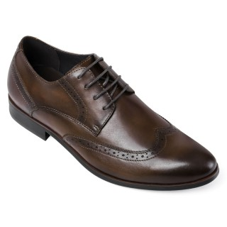 Chamaripa scarpe uomo tacco alto scarpe con rialzo interno brogue scarpe eleganti 5 CM