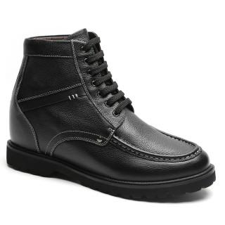 Chamaripa scarpe con rialzo interno stivaletti con tacco interno nero stivali con rialzo interno 9 CM