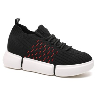 Chamaripa sneakers con rialzo interno scarpe rialzate Scarpe da corsa traspiranti per donna 8 CM