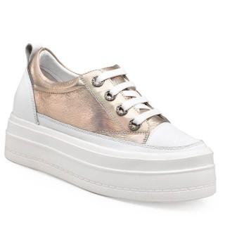 CHAMARIPA scarpe rialzate donna scarpe da ginnastica suola alta scarpe rialzo interno 8 CM