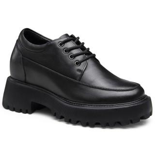 Chamaripa scarpe rialzate donna - scarpe donna con zeppa nero - scarpe con tacco interno donna -9 CM più alto