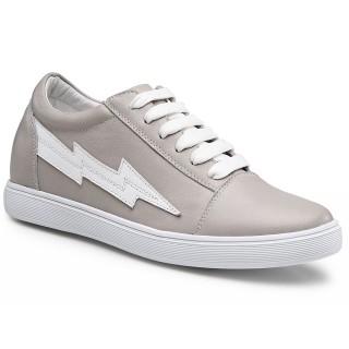 Chamaripa scarpe con zeppa interna donna scarpe ginnastica con zeppa scarpe casual grigie da donna 6 CM